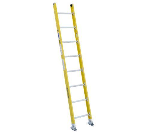 Round Rung Fiberglass Straight Ladder