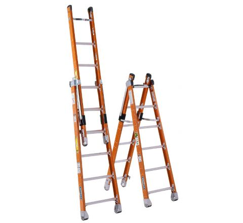 Fiberglass Combination Step/Extension Ladder