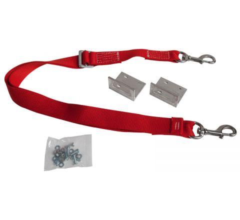 Adjustable Pole Lash with Angle Brackets