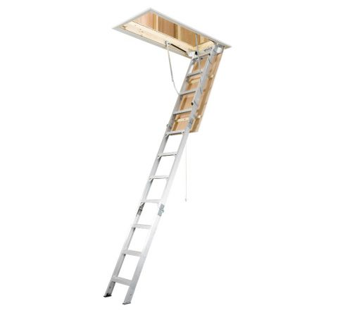 Universal Aluminum Attic Ladder - Heavy Duty