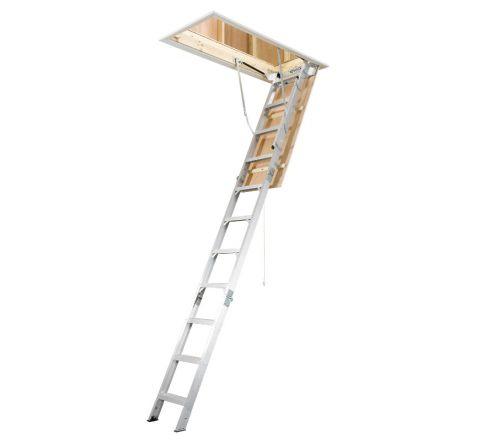 Universal Aluminum Attic Ladder - Heavy Duty