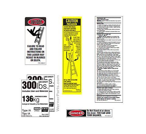 Aluminum Twin Stepladder / Stockr's Ladder Safety Labels