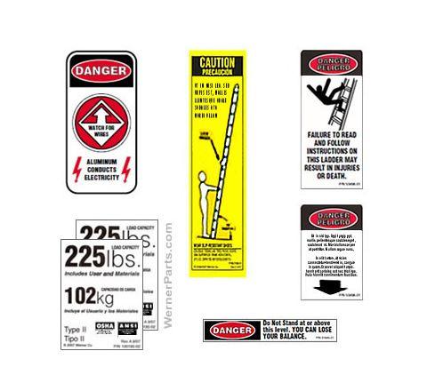 MultiLadder Safety Labels
