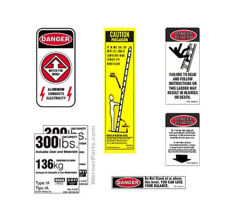 300 lb. Multiladder Safety Labels
