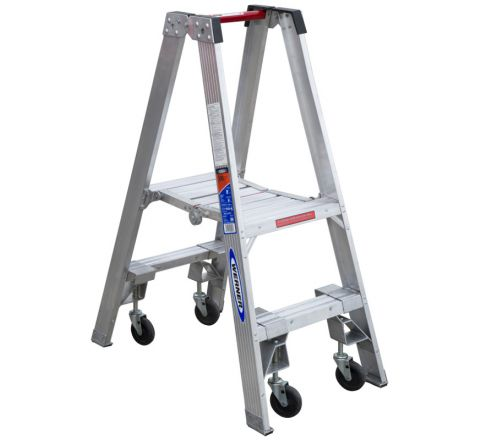 Aluminum Stockr's Ladder with Casters