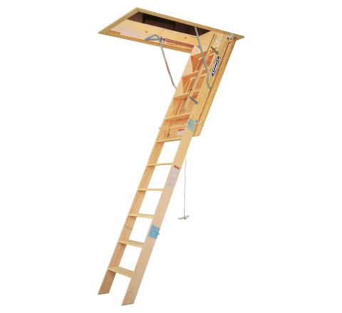 Wood Attic Ladder - Heavy Duty