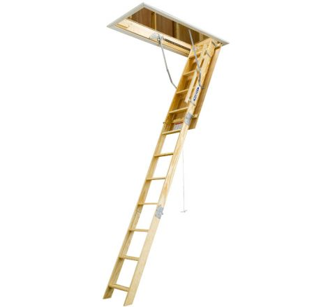 Universal Wood Attic Ladder (8 ft.  to 10 ft.)