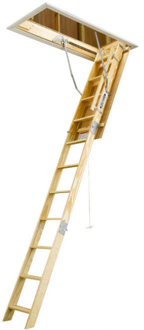 Universal Wood Attic Ladder 8 Ft To 10 Ft Wu2210 By Werner Wernerparts Com